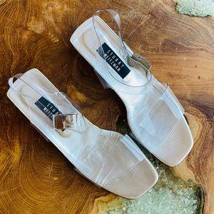 Vintage 90's Stuart Weitzman clear lucite sandals